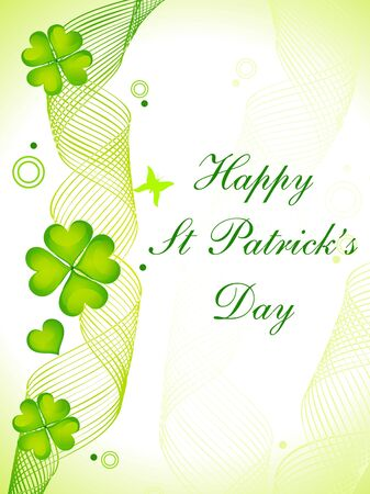 abstract st patricks day card vector illustration Stock Vector - 9085613