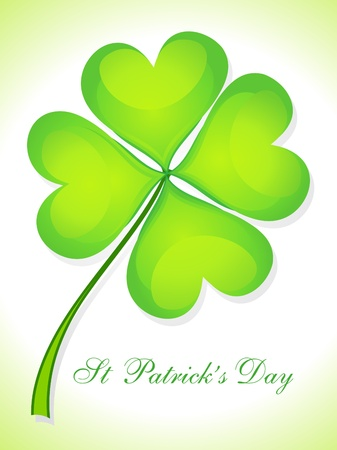 four leafed clover: abstract st patricks day card vector illustration