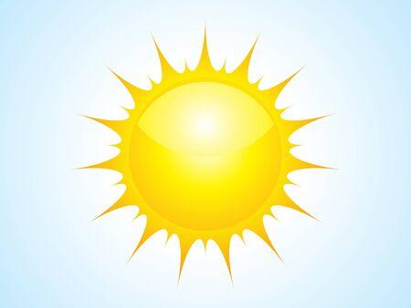 abstract sun icon vector illustration Stock Vector - 9085384