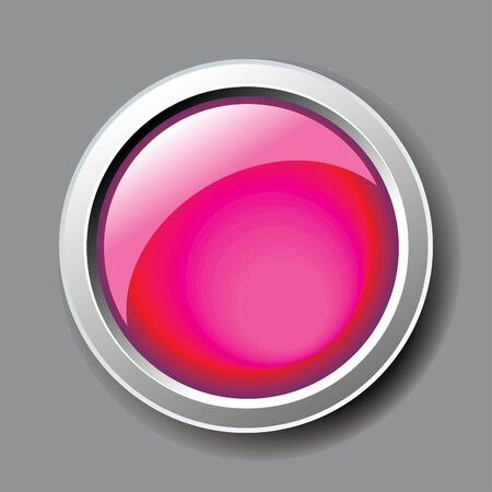 abstract shiny pink button vector illustration Vector