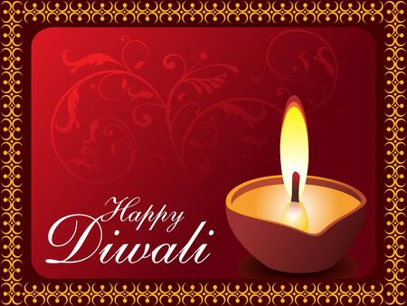 diwali background vector illustration Vector