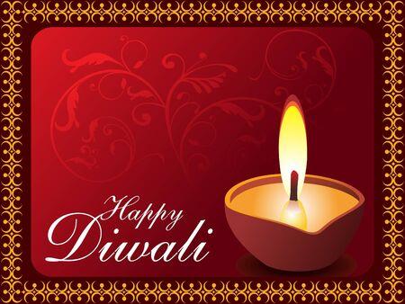 divinit�: illustration de vecteur de fond Diwali
