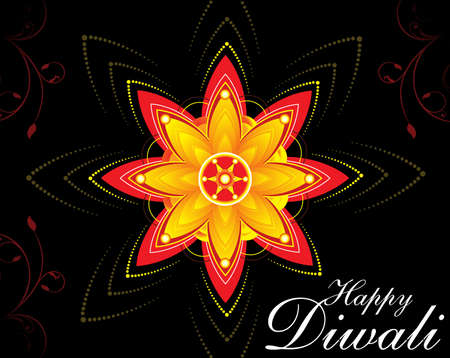 diwali floral background vector illustration Vector