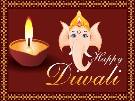deepawali: Ilustraci�n de vector de fondo de Diwali
