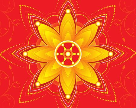 deepawali backdrop: diwali floral background vector illustration Illustration