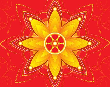 deepawali backdrop: diwali floral background vector illustration Illustration