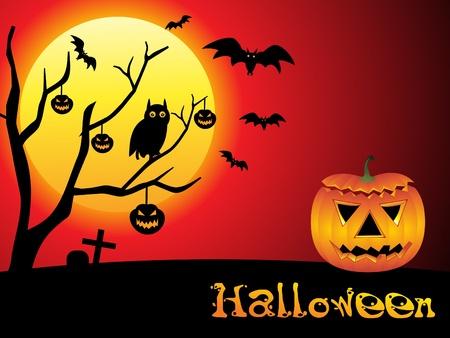 kale: abstracte halloween wallpaper vectorillustratie Stock Illustratie