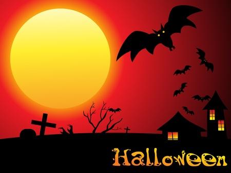 abstract halloween wallpaper vector illustration