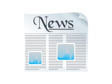 shiny news paper icon vector illustration Stock Vector - 9085432