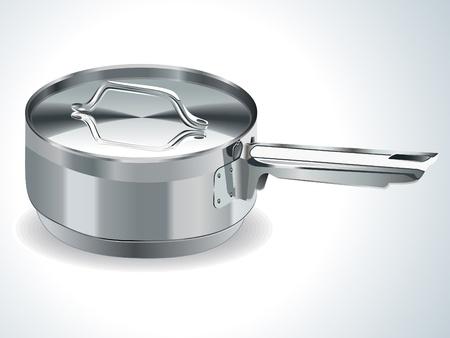 stainless steel pot vector illustration Stock Vector - 9085611