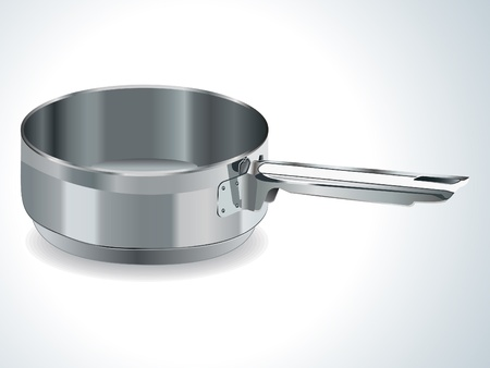 fryer: stainless steel pot vector illustration Illustration