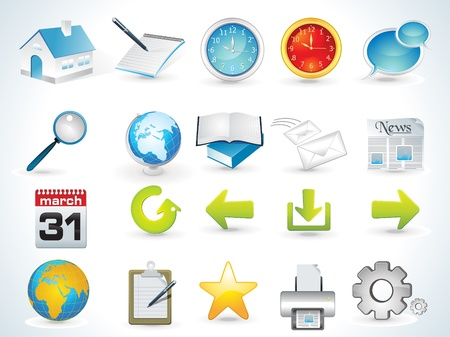 web icon set vector illustration  Stock Vector - 9085926