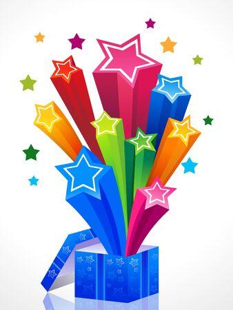 abstract colorful magic box vector illustration Vector