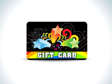 abstract black gift card vector illustration Vector
