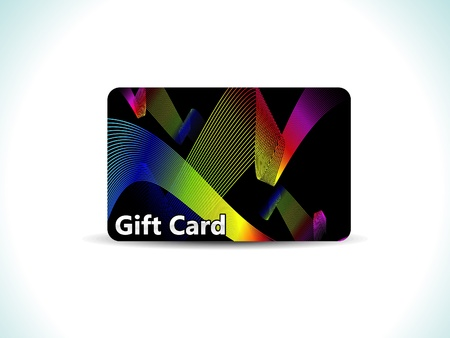 prepaid: abstract colorful gift card vector illustration