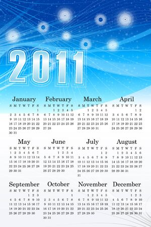abstract blue background calendar vector illustration Vector