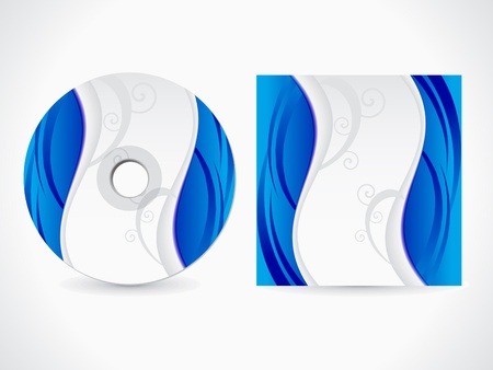 abstract blue cd cover vector illustration Stock Vector - 9086164