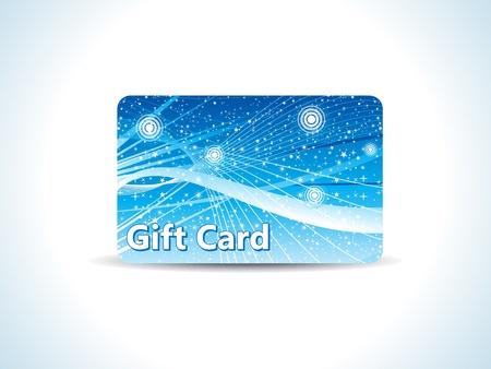 prepaid: abstract blue gift card vector illustration Illustration