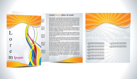 abstract brochure with wave concept vector illustration Illustration