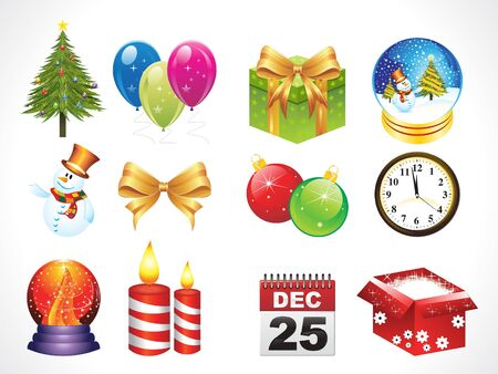 abstract christmas objects with many object Vector