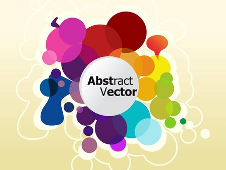 abstract colorful circle background vector illustration Stock Vector - 9086057