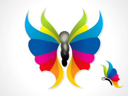 abstract colorful butterfly  vector illustration Stock Vector - 9086060
