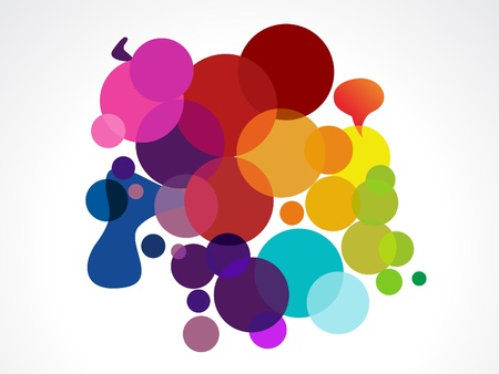abstract colorful circles vector illustration Stock Vector - 9086003