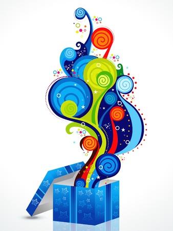 abstract colorful magic box vector illustration Stock Vector - 9086223