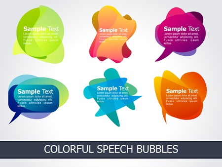 abstract colorful speech bubble  vector illustration Stock Vector - 9086241