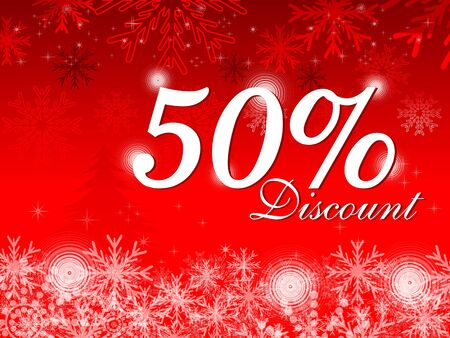 abstract christmas discount card vector illustration Stock Vector - 9086376
