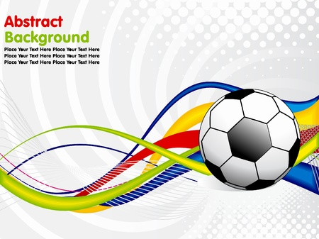 sports backgrounds: abstract football concept  vector illustration Illustration