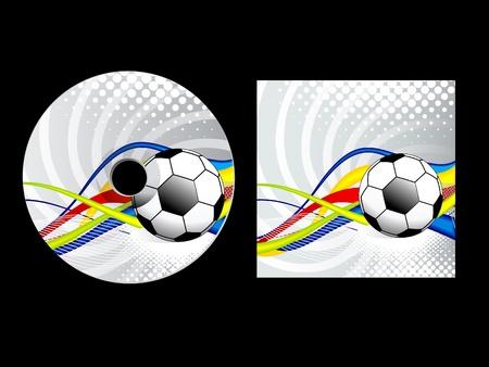 abstract sport cd pack vector illustration Vector