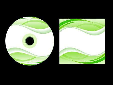 abstract green cd cover vector illustration Vector