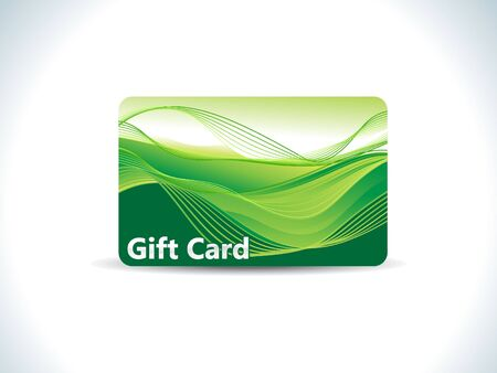 prepaid card: abstract green gift card vector illustration