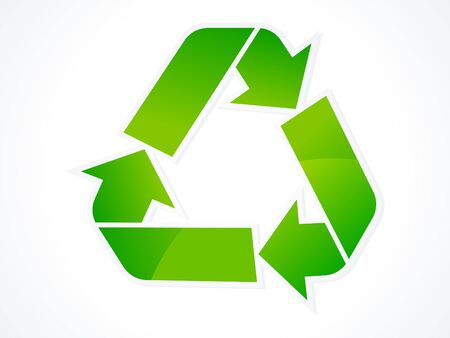 abstract eco recycle icon vector illustration Stock Vector - 9085987