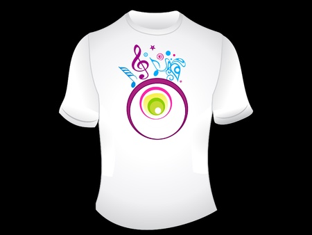 abstract t-shirt design vector ilustration Vector