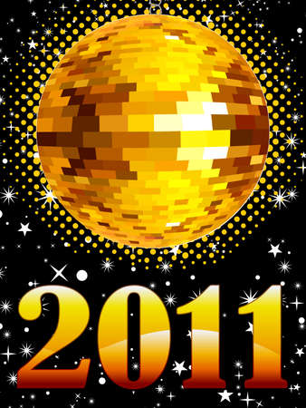 abstract new year music concept vector illustration Vector
