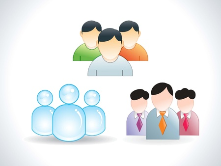 abstract user icons vector illustration 일러스트