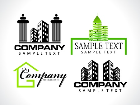 residential structures: abstract corporate icon template vector illustration