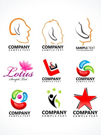 abstract corporate icon template vector illustration Vector