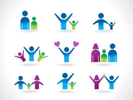personas abstracta icono plantilla vector ilustración