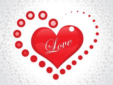 love wallpaper: Ilustraci�n de vector de papel tapiz amor abstracto