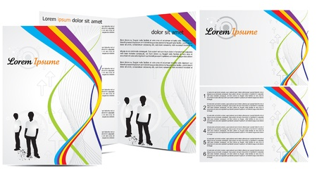 abstract brochure in wave concept vector illustration Stock Vector - 9132164