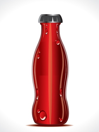 bebidas frias: Ilustraci�n de vector botella de refresco abstracto
