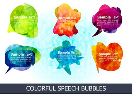 abstract colorful speech bubbles vector illustration Stock Vector - 9132307