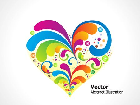 flow of colors: abstract colorful heart vector illustration Illustration