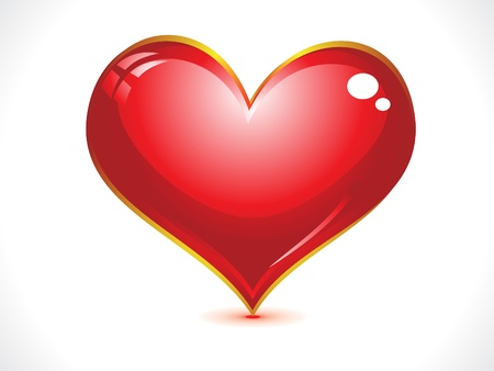 modernffection: abstract glossy heart vector illustration  Illustration
