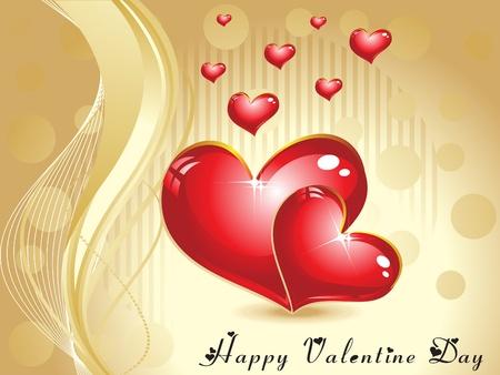 febuary love glossy shiny creative: abstract valentine wallpaper vector illustration