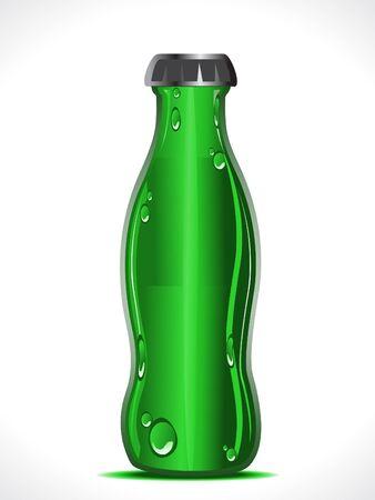 abstract green beer bottle vector illustration Vector