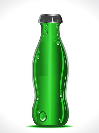 abstract green beer bottle vector illustration Vector